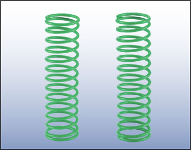 #258369 Front Shock Spring Green (Hard)